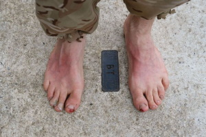 Barefoot Soldier arrives in Catterick Garrison
